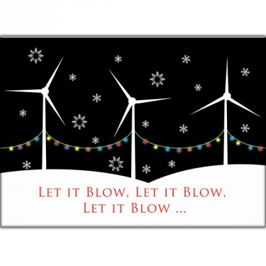 FoE Christmas card available from http://www.foeshop.co.uk/let-it-blow.html
