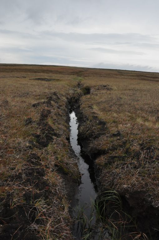 A drainage ditch at around SD 955350.