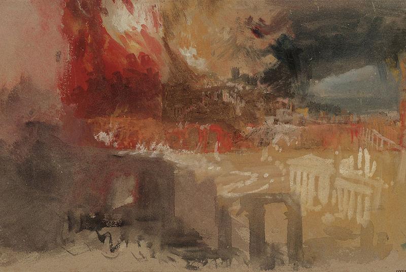 The burning of Rome, JMWTurner via Wikimedia commons. Original in Tate Gallery.