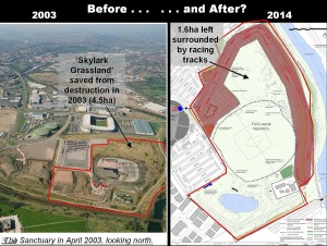The Sanctuary LNR Before and After 2003 - 2014(1)