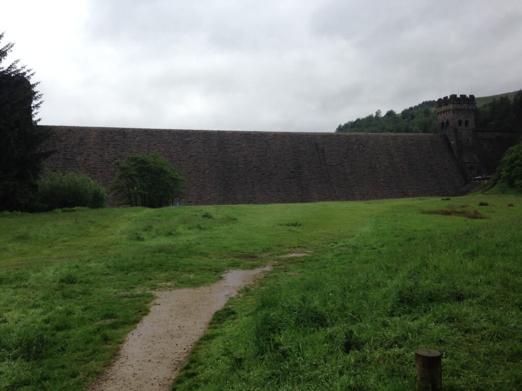 The Derwent Dam - will I be standing on this patch of grass on my own feeling foolish?