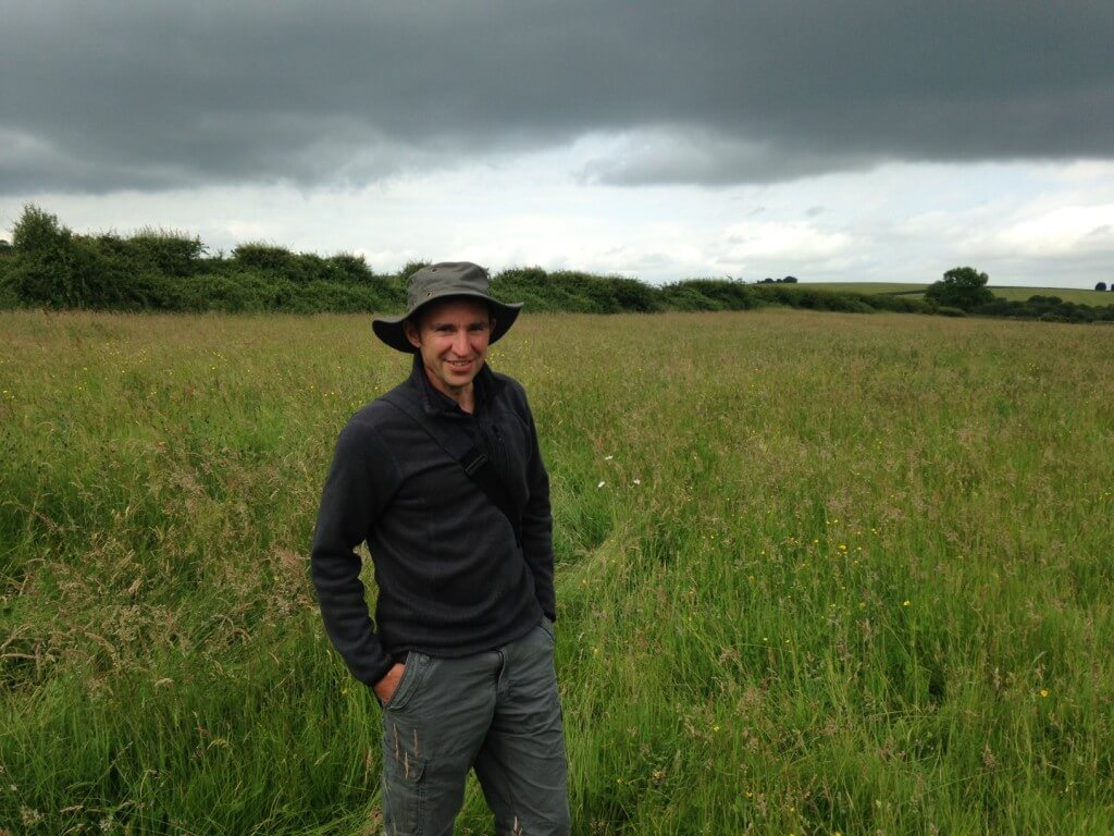 Joe Costley of Plantlife at their Seaton Meadows nature reserve