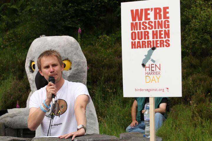 Photo: Guy Shorrock. Jeff Knott made an impressive, RSPB, speech in the Goyt.