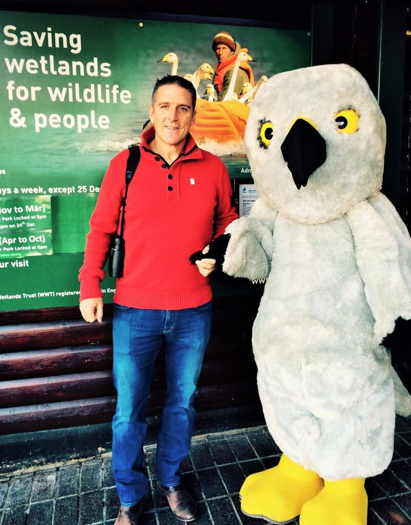 A good-looking male with Iolo Williams